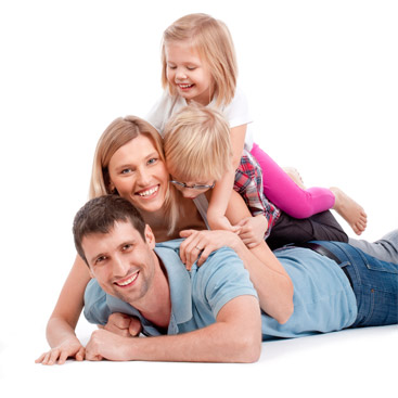 family happy moving home with glasswells