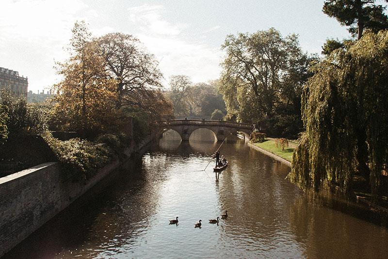River Cam in Cambridge, UK