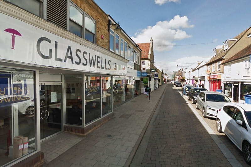 Glasswells Shop North Street Sudbury